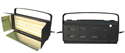 Farseeing Luminaria luz fr�a softlight 2 tubos de 36 W No Regulable